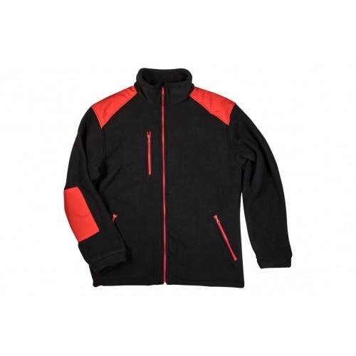 Bluza Polarowa czarna z czerwonymi dodatkami
