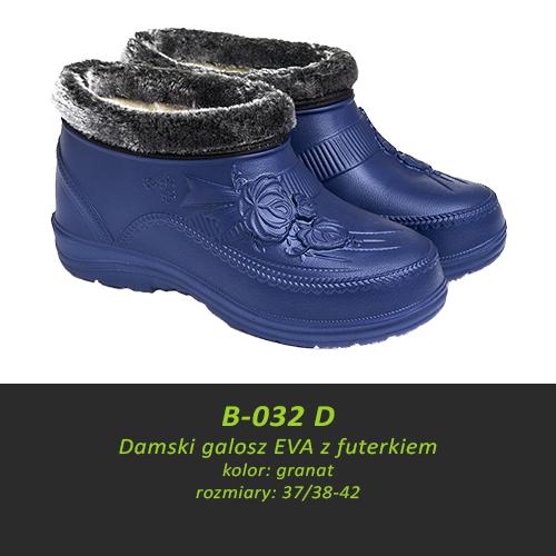 Damski galosz EVA z futerkiem B-032D